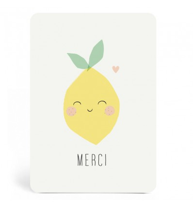 Carte Merci Citron Zü (ZU)