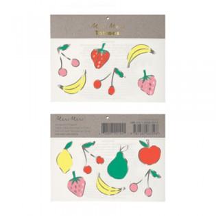 Tatouages éphémères fruits argentés - Meri Meri