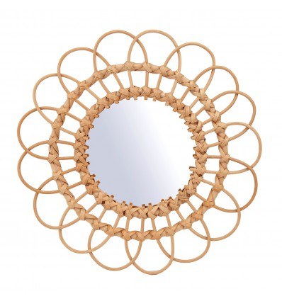Grand miroir en rotin - Sass & Belle