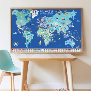 Poster & stickers Drapeaux du Monde - Poppik