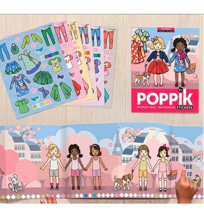 Girl Fashion / stickers poster - Poppik