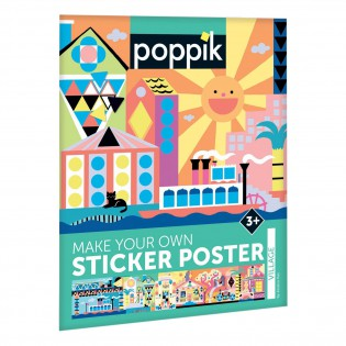 Village / stickers poster - Poppik