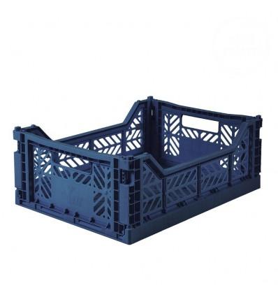 Caisse medium AY-KASA navy blue