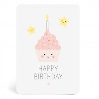 Carte Happy Birthday gâteau (ZU)
