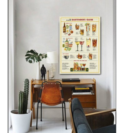 Affiche pédagogique Cocktails - Cavallini & Co