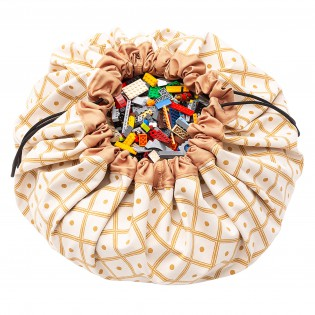 Grand sac de rangement Géo Moutarde - Play & Go