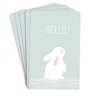 Set de 10 mini cartes Hello - Zü