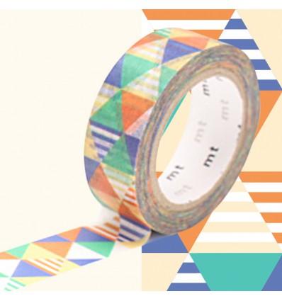 Masking tape losanges shimasankaku blue