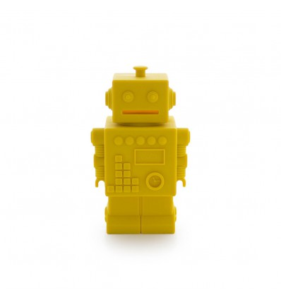 Tirelire robot jaune en silicone - KG Design
