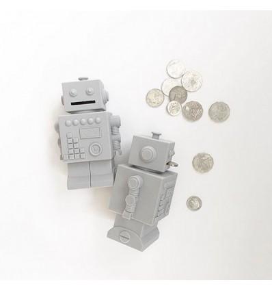 Tirelire robot gris en silicone - KG Design