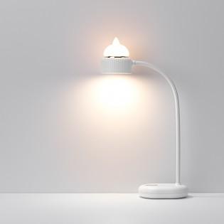 Lampe Duo sans fil chat Blanche