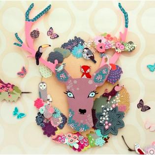 Coffret de décoration Biche Fleurie - Mon Petit Art