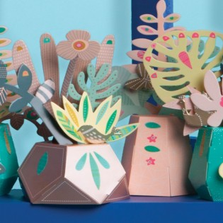 Coffret de décoration Plantes Tropicales - Mon Petit Art
