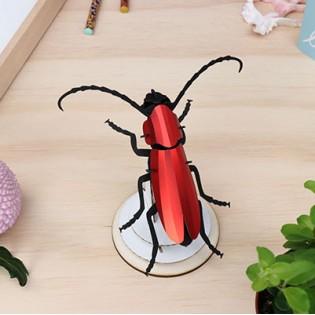 Insecte DIY Rosalia Beetle Rouge - Assembli