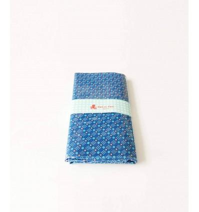 Coupon coton enduit Petit Pan Chifoumi Outremer