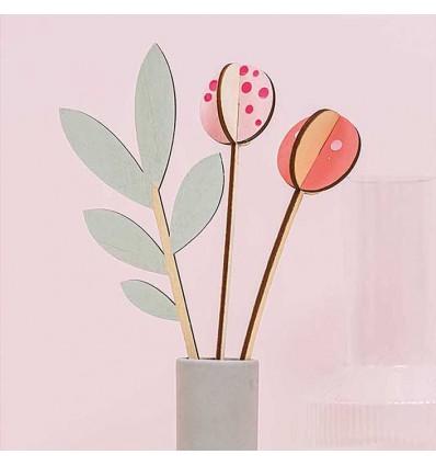 Décoration en bois Tulipes - Rico Design