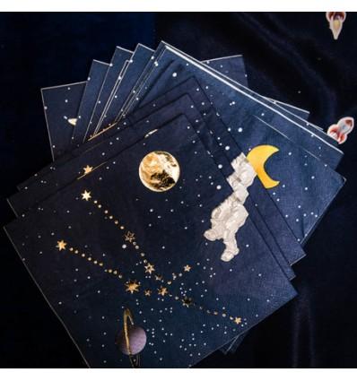 16 serviettes en papier Astronaute