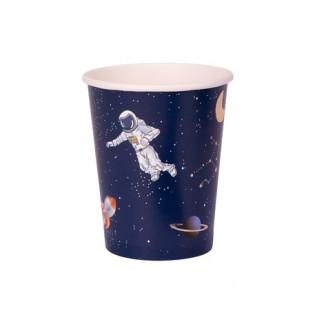 8 gobelets en carton Astronaute