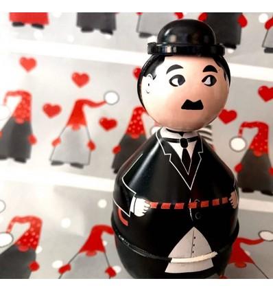 Culbuto Charlie Chaplin en métal