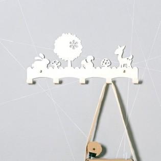 Porte manteaux Faon blanc - Eina Design