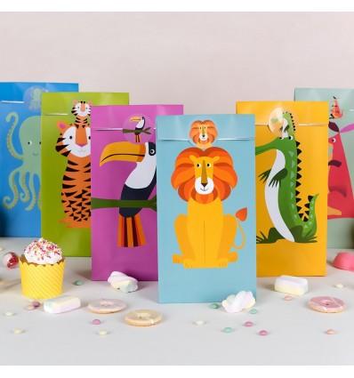 6 pochettes cadeaux animaux - Rex