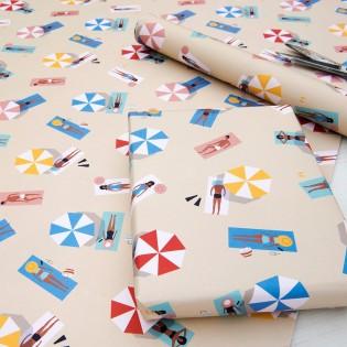 Papier cadeau Baigneurs