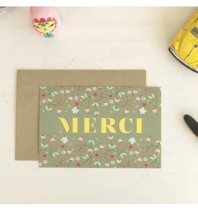 Carte fleurie Merci - Cité Candide