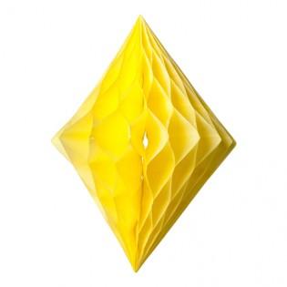 Losange alvéolé jaune - Artyfete