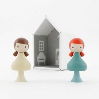Figurines en bois magnétiques - Zoe & Stella