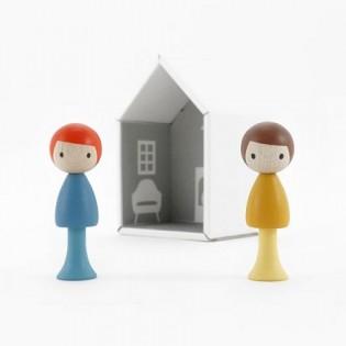 Figurines en bois magnétiques - Marco & Ben
