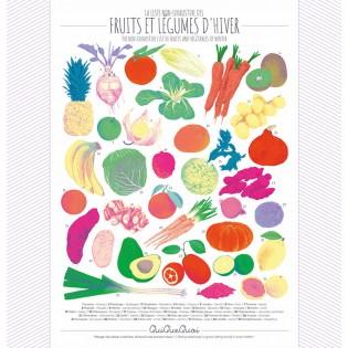 Affiche Hiver fruits & légumes - Qui Que Quoi
