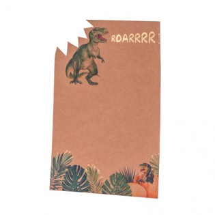 Set de 8 invitations Dinosaures