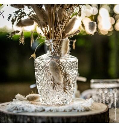Vase rétro en verre - Gravure Ancienne