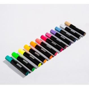 12 Pastels à l'huile fluo métallisés Art Pastels - OMY