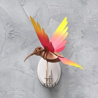 Oiseau DIY Colibri Rouge & Jaune - Assembli