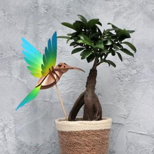 Oiseau DIY Colibri Jaune & Bleu - Assembli