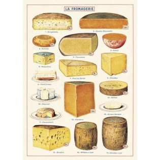 Affiche vintage Fromages - Cavallini & Co