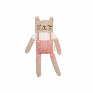 Doudou Chat salopette rose - Main Sauvage