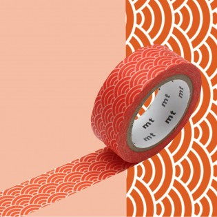 Masking Tape Vague Seigaiha orange