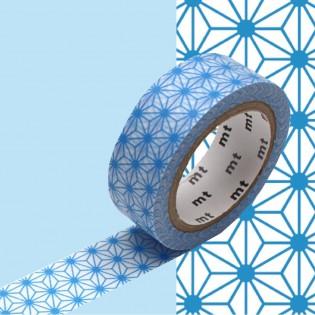 Masking Tape Asanoha bleu clair