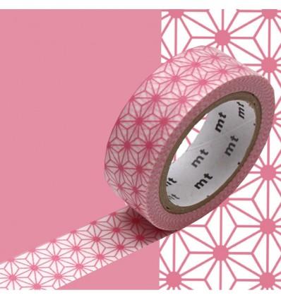 Masking Tape Asanoha rose clair