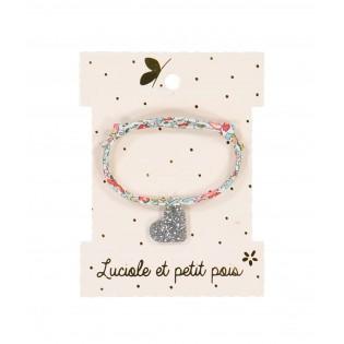 Bracelet liberty coeur argenté - Luciole et Petit Pois