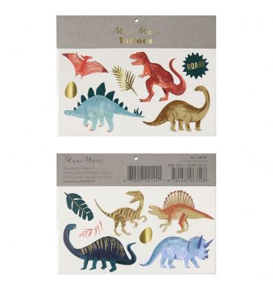 Tatouages éphémères Dinosaures - Meri Meri