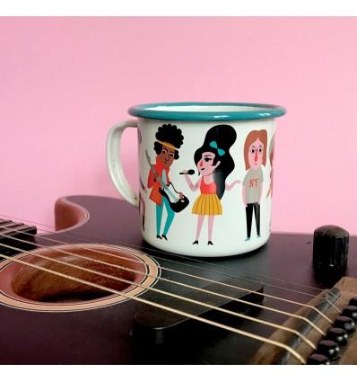 Mug émaillé Music Lovers Ingela Arrhenius - Omm Design