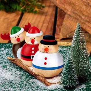 Culbuto Noël en bois