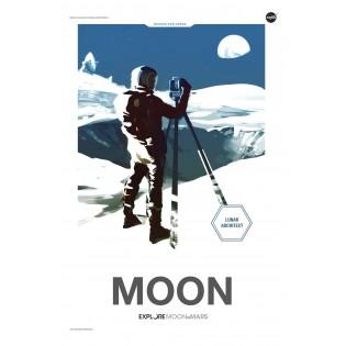 Affiche NASA - Moon