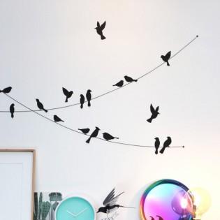 Kit de pliage papier de 22 oiseaux noirs - Assembli