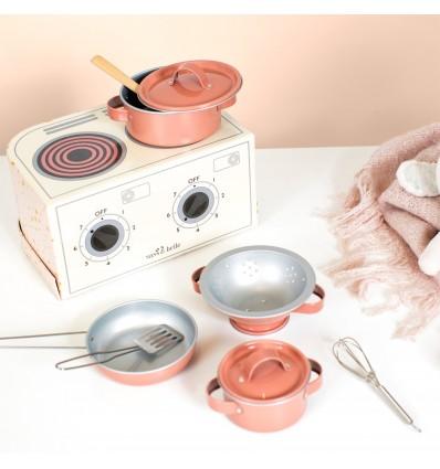 Dinette cuisinière en métal Etoiles - Sass & Belle