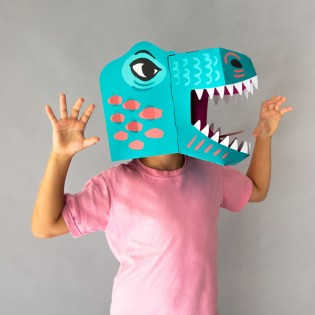 Masque 3D en carton Dinosaure - Omy