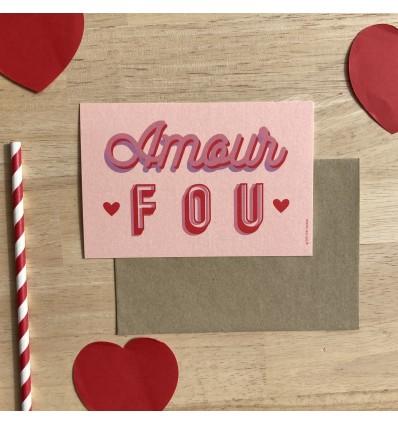 Carte Amour Fou - Cité Candide